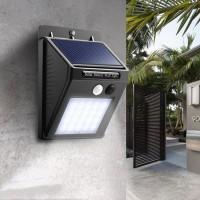 Solar Cell Sensor Wall Light Lampu Taman Dinding Tenaga Surya 30 LED