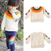 PROMO Sweater Kaos Pullover Bayi Perempuan Lengan Panjang Motif