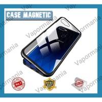 Samsung A6+ magnetic glass premium case 2in1