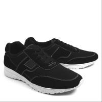 Sepatu Pria Casual Sneakers Kets Walkers Sanji Hitam Santi Murah