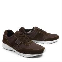Sepatu Pria Casual Kets Walkers Sanji Coklat Sepatu Sneakers Santai