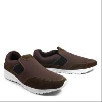 Sepatu Pria Walkers Fujin Coklat Sepatu Casual Slop Murah