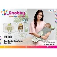 Selimut Bayi Snobby Baby Blanket Topi Hippo TPB 3131