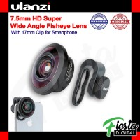 Ulanzi 7.5mm HD Lensa Super Wide Fisheye Lens for Smartphone Phone HP