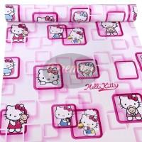 Hellokitty Kotak Pink Wallpaper | 45CM x 10M