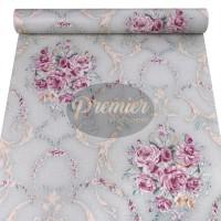 Bunga Pink Dasar Batik Hijau