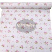 Wallpaper Shabby Pink Rose Base White | 45CM x 10M