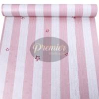 Wallpaper Garis Pink Bintang | 45Cm x 10M