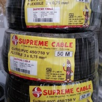 Kabel serabut supreme nyyhy 3x0.75 50m