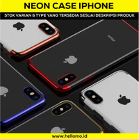 Softcase Neon Light iPhone 5/6/6+/7/7+/8/8+ Plus/X Case Silicon Casing
