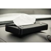 TECHNOZIO Kotak Tissue Short Hitam /tempat tissue /tisu mobil