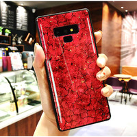 SAMSUNG A50 Luxury Glass Jelly Crackle Marble Case