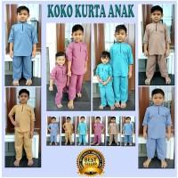 Baju Koko anak / Koko Kurta / Baju Koko Pria / Busana Muslim Set Anak - Light Maroon, 2