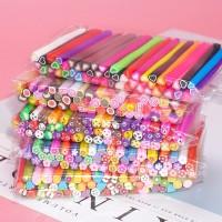 50PCS Set Nail Art Fimo Canes Stick Gel Rod Stickers Decor Manicure DI
