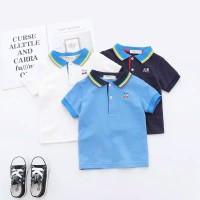 baju kaos berkerah polo navy biru putih impor anak laki laki cowok