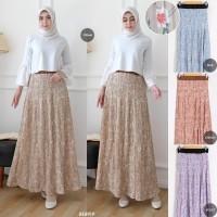 Rok Kulot Plisket Flow Skirt / Rok Muslim Wanita