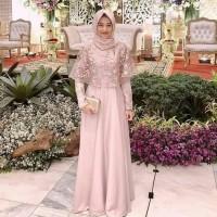 kiza maxi dress muslim/ gamis dress pesta