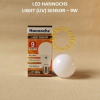 Lampu LED Bulb-Bohlam LED Hannochs Sensor Cahaya 9 Watt elektronik