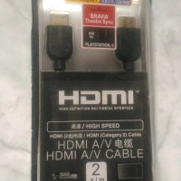 Original kabel hdmi sony 2 m gold plated high speed 3d support hdmi ca