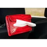 Tempat Tissue Mobil Motif Crocodile/Tempat Tissue Belakang Jok Mobil