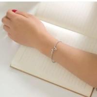 gelang rantai simple detak jantung (heartbeat bracelet)