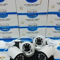 Paket CCTV 4CH 5MP FULL HD 1080P Hardisk 2000GB KOMPLIT