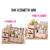RAK KOSMETIK MINI BAHAN KAYU TEMPAT COSMETIC STORAGE MINI RACK