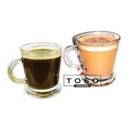 Gelas Kaca Mug Cangkir Kopi Arabica Coffee Cappucino Cup Glass 180ml