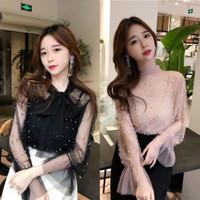 Baju Atasan Korea Sifon Mutiara Baju Kerja Baju Pesta Pearl