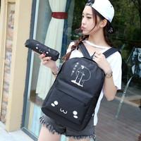 Tas Ransel Canvas Wanita Ransel Backpack Tas Sekolah Wanita