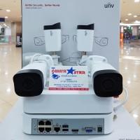 PAKET CCTV NVR KIT UNIVIEW 4CAMERA+HDD 1TB FULL SET SIAP PASANG