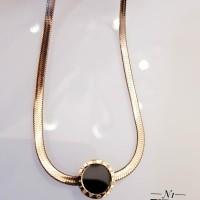 Titanium kalung lapis emas 24k 434a