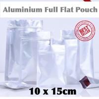 kemasan ziplock alumunium foil full | kemasan aluminium 10x15 flat