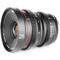Lensa Manual Focus Cinema Lens Meike 25mm T2.2 Fuji X Mount Fujifilm