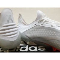 Sepatu Bola Soccer Adidas X 18 1 Next Gen Grey White Orange FG TERLA