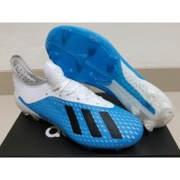 Sepatu Bola Soccer Adidas X 18 1 Next Gen Blue White Black FG TERLAR