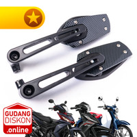 Spion TS Top Secret Carbon Style Spion Motor Variasi Honda Bebek