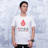 T-Shirt Distro Kaos Anime THE WILL OF FIRE