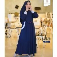 Pakaian Baju Busana Muslim Wanita THISA Setelan Gamis Syari Terbaru