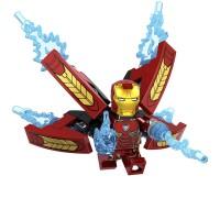 Balok Bangunan Desain Lego Marvel The Avengers Iron Man Compatible