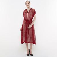 ATELIER MODE Lace Dress Geometrique Pattern Dephne Dress Wanita