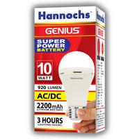 Lampu LED hannochs genius emergency / magic ac dc 10w 10 watt