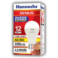 Lampu LED hannochs genius emergency / magic ac dc 12w 12 watt