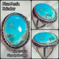 cincin batu akik permata pirus persia naizabur e