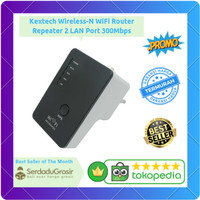 Kextech Wireless-N WiFi Router Repeater 2 LAN Port 300Mbps - LV-WR02B