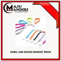 KABEL MAGNET MICRO USB 90CM - Biru