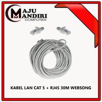 KABEL LAN CAT 5 + RJ45 30M WEBSONG