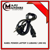 KABEL POWER LAPTOP 3 LUBANG HIGH QUALITY (1 PACK = 25UNIT)