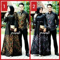 Batik Couple / sarimbit modern / busana gamis motif muslim long dress