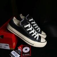 Sepatu Converse All Star 70s Black White Low Import